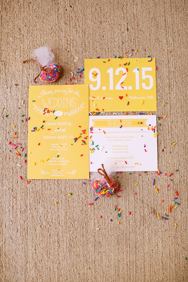 Sprinkle wedding favors. Photo by Jalapeno Photography.