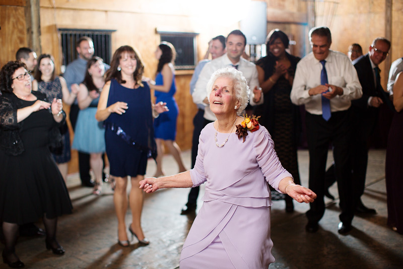 Grandma busts a move. Bluemont Vineyard wedding by Jalapeno Photography.
