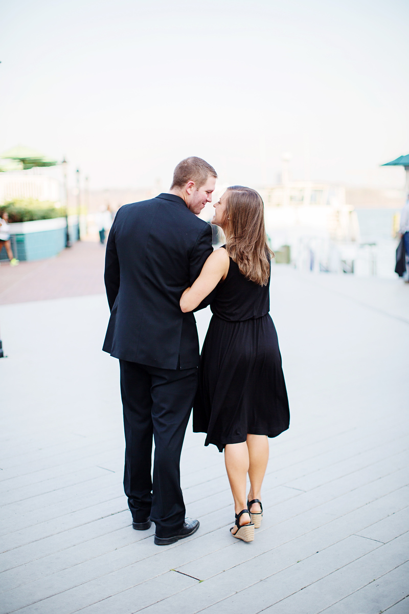 Old Town Alexandria engagement photos. Images by Jalapeno Photography.