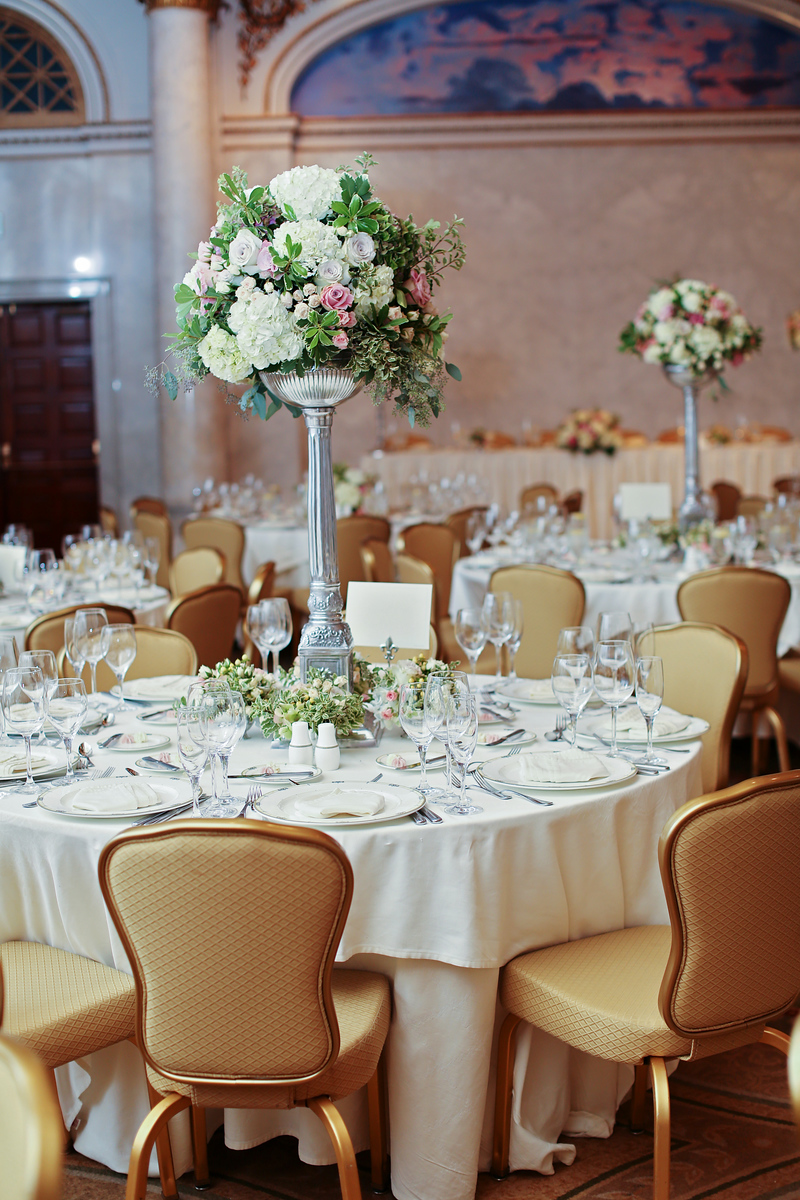 Reception at the Grand Historic Venue in Baltimore, MD. Images by Jalapeno Photography.